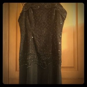 Vintage beaded & sequined little black dress